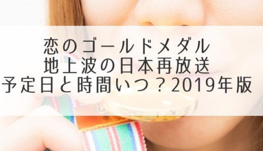 恋のゴールドメダル地上波の日本再放送予定日と時間いつ?2019年版