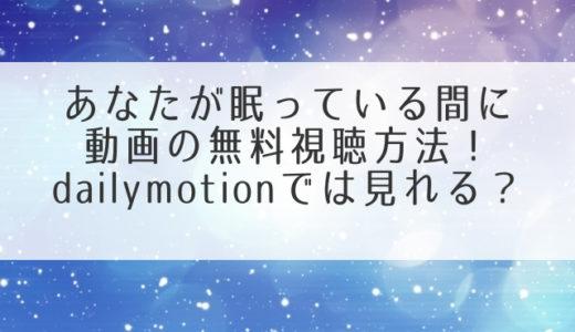 あなたが眠っている間に(韓国ドラマ)動画の日本語字幕を無料視聴!1話2話~全話配信はどこ?