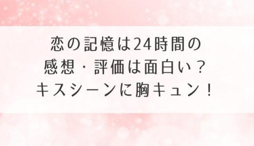 恋の記憶は24時間の感想・評価は面白い?キスシーンに胸キュン!