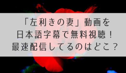左利きの妻(韓国)動画を日本語字幕で無料視聴する方法!最速配信してるのはどこ?