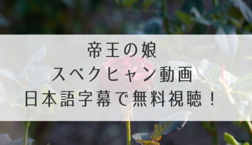 帝王の娘スベクヒャン(韓国ドラマ)動画を日本語字幕で無料視聴しよう!全話タダで見れるのはどこ?